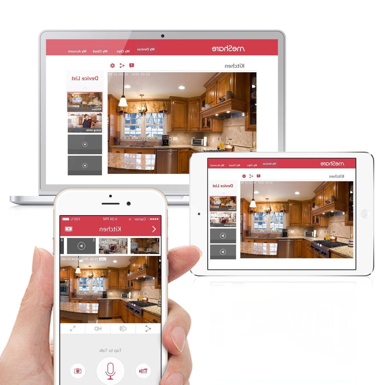 Funlux® 720P HD Wireless Security W/ Free App