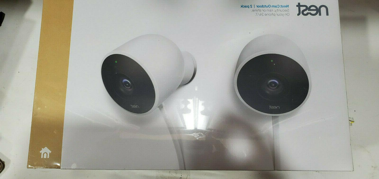 nest cam outdoor security cameras 2 pack