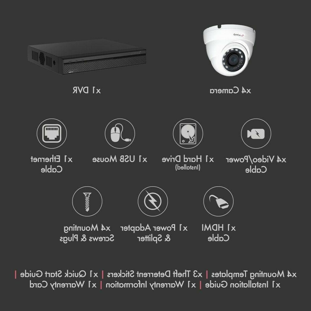 Dahua Aivio Wired 4X1080P Cameras