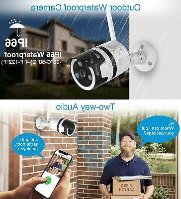 Outdoor Security 1080P Surveillance Outdoor WiFi Camer...