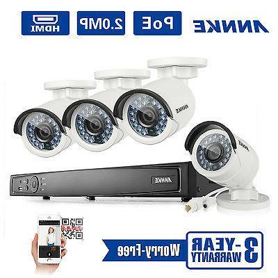 ANNKE 1080P 6MP NVR WDR 2MP Camera System