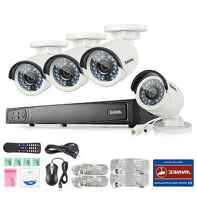 ANNKE 1080P POE 6MP NVR 2MP Security Camera System