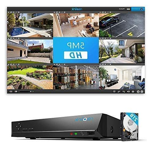 Reolink 16CH IP Home System Video 3TB 5MP/4MP/1080p/720p Recording