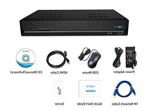 Reolink PoE NVR 16CH IP Security Camera System 3TB Support 5MP/4MP/1080p/720p 24/7 Recording