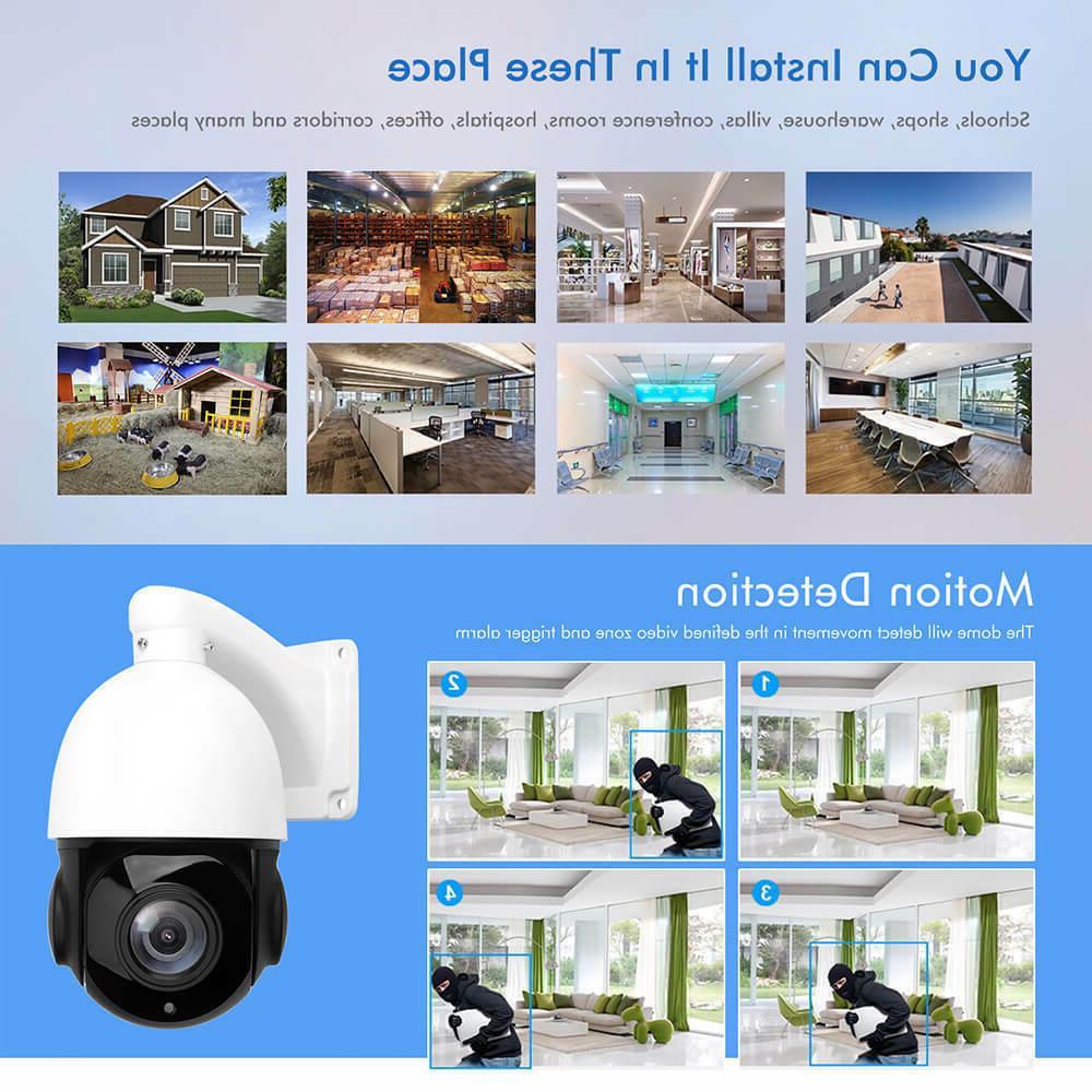 POE 5MP Super Pan/Tilt Zoom Dome Cameras