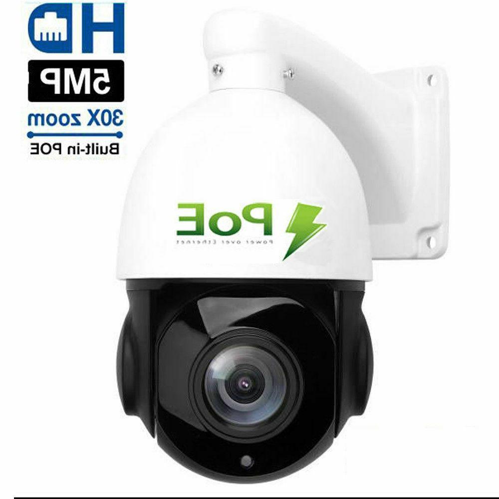 POE 5MP HD 2592x1944 Pan/Tilt 30x Dome