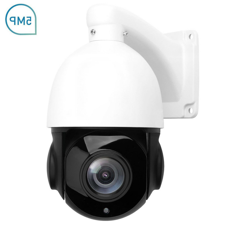 POE PTZ 5MP Super 2592x1944 Pan/Tilt Zoom Dome Cameras