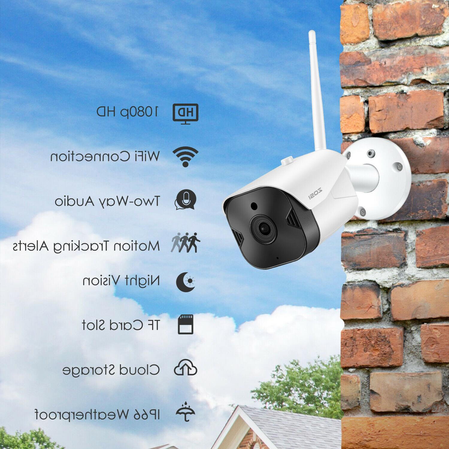 ZOSI 1080P Wireless WIFI IP Camera Security Bullet Vision