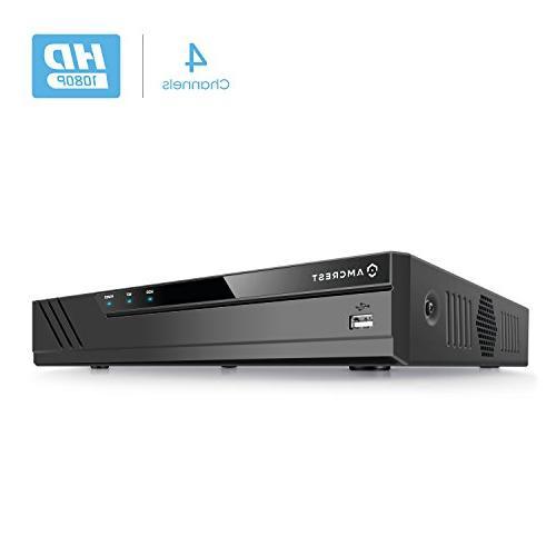 Amcrest ProHD 1080P 4CH Video Security DVR Digital Recorder,