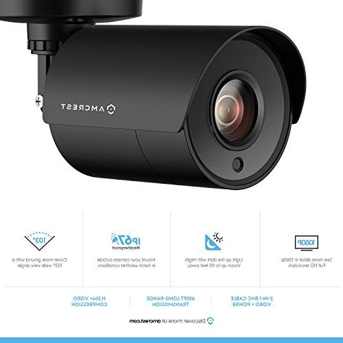 2-Pack Amcrest 1080P Bullet Outdoor Camera 1920x1080, Plastic 2.8mm 103°