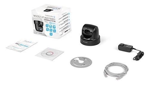 Amcrest ProHD Indoor PTZ 1080P Camera, 98ft Pan/Tilt/4x 116° Viewing , Sentinel Wi-Fi, Black