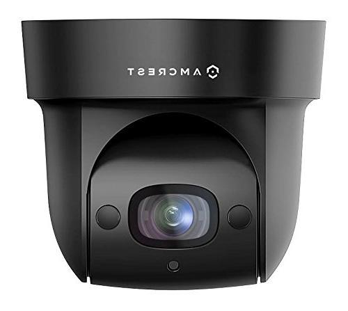 Amcrest ProHD WiFi PTZ Camera, 98ft Night Pan/Tilt/4x Motorized 116° , Sentinel Wi-Fi, IP2M-846 Black