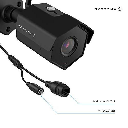 Amcrest 4MP Camera NVR, 4-Megapixel Weatherproof Bullet Cameras, Angle Hard NV4108-HS-IP4M-1026B4