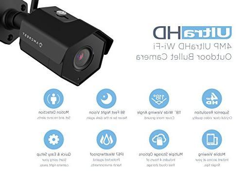 Amcrest 8CH 4MP Camera System, w/ NVR, 4-Megapixel Weatherproof Bullet IP Cameras, Angle Hard Drive