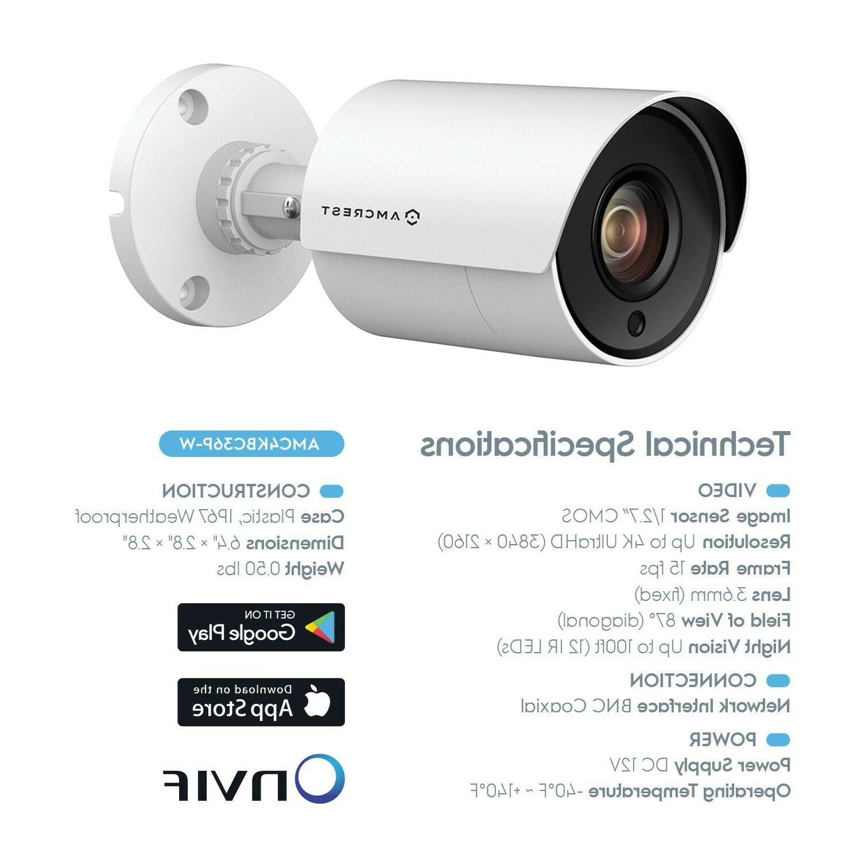 Qty.8 Amcrest 4K Camera, 4K