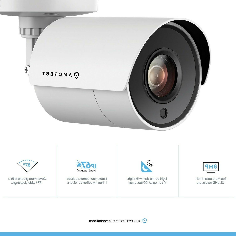 Qty.8 - 4K Bullet Security Camera, 4K