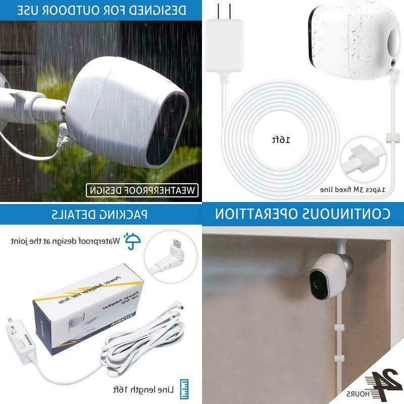 security camera power adapter weatherproof outdoor quick
