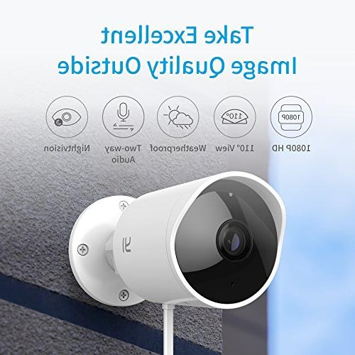 YI Security Wireless Night Vision System Audio, Detection, Alert, Deterrent Alarm iOS,