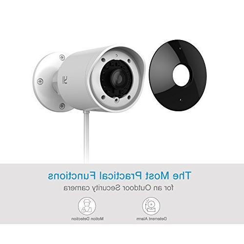 YI Security Camera, 1080p Cam 2.4G Wireless IP Waterproof Vision Alert, Deterrent Alarm