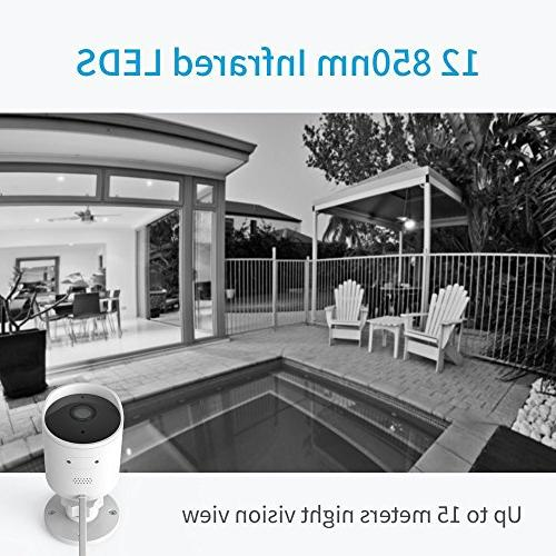 YI Outdoor Security 1080p Cloud Cam Wireless Audio, Motion Alert, - iOS, Android