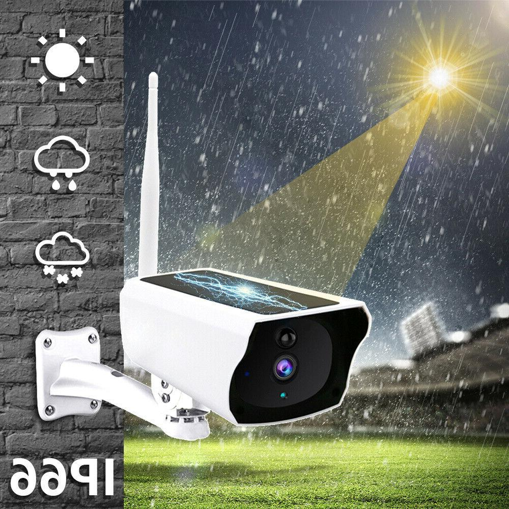 Wireless Solar IP Camera Wifi 1080P Security Surveillance Ou