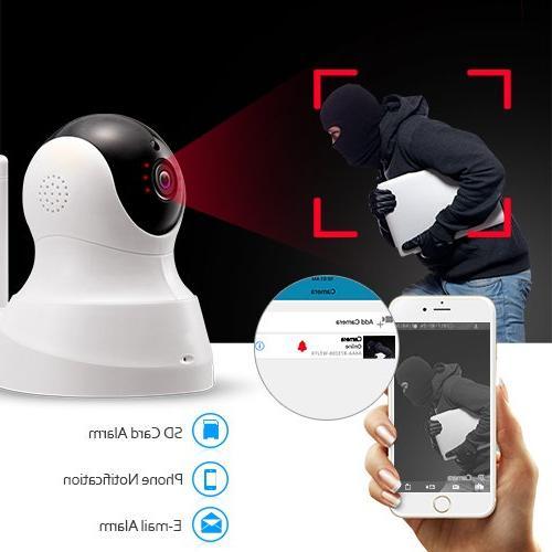 TENVIS HD IP Camera - Camera with Vision Camera, 720P Pet Baby Camera with Micro SD Card Slot