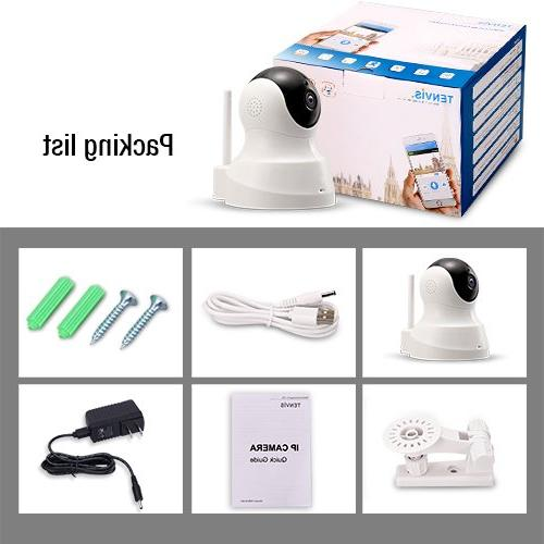 TENVIS HD IP Camera - IP with Audio, Night Vision 720P for Baby Camera Motion Detection Camera Card Slot