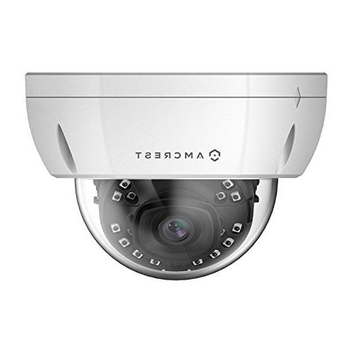 Amcrest Security 3840x2160, NightVision, 2.8mm Lens, IP67 IK10 Vandal MicroSD Recording,