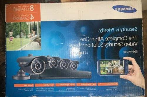 video security system 4 cameras 8 channels