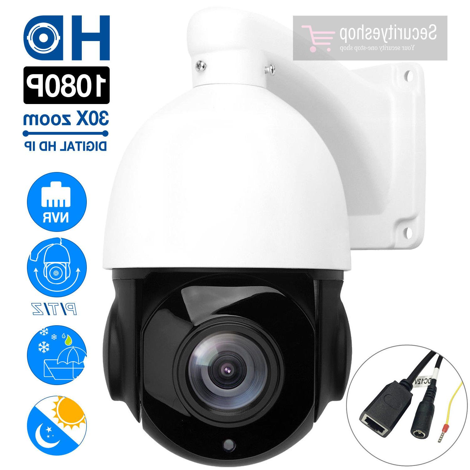 HD 1080p PTZ Outdoor Speed Dome IP Pan Tilt 30X Zoom IR Netw