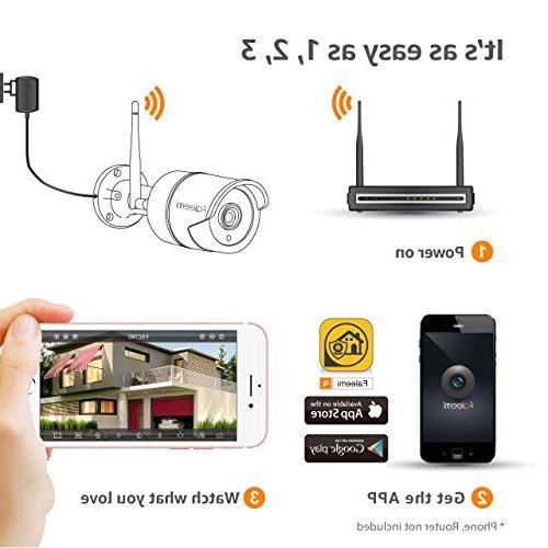 Waterproof Surveillance IP for Faleemi Outdoor//Indoor WiFi HD Security Camera