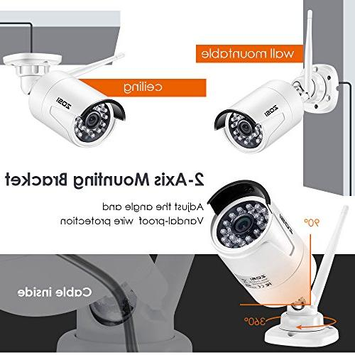 ZOSI 1080P Wi-Fi Wireless Security System NVR 1TB Drive HD 1080P Night Vision,Customizable