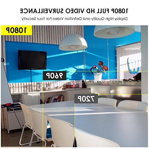 ZOSI FULL Wi-Fi Wireless Camera System NVR 1TB Drive 1080P Night