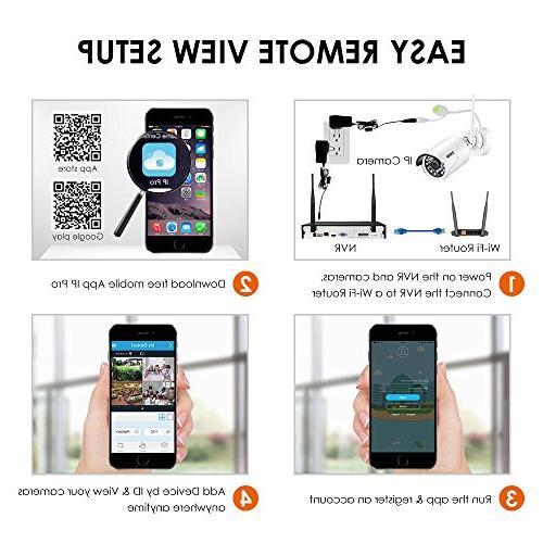 ZOSI Wi-Fi Wireless System 4CH Drive and 1080P Night Motion
