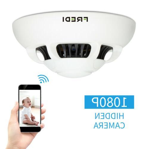 HD WiFi 1080P Hidden Smoke Detector Camera FREDI Motion Dete