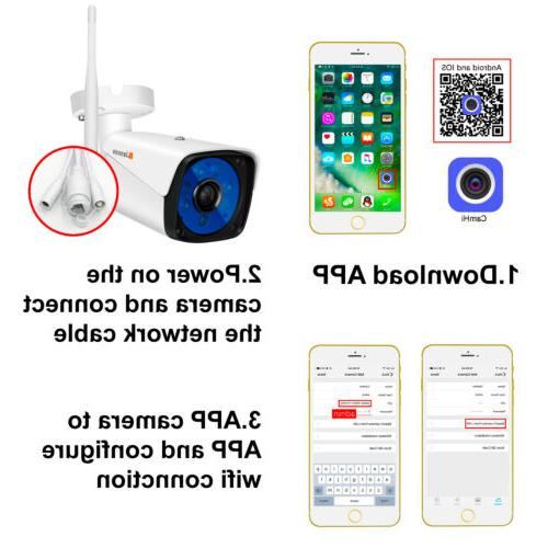 Wireless 1080P Camera Outdoor Wifi Vision CCTV Home