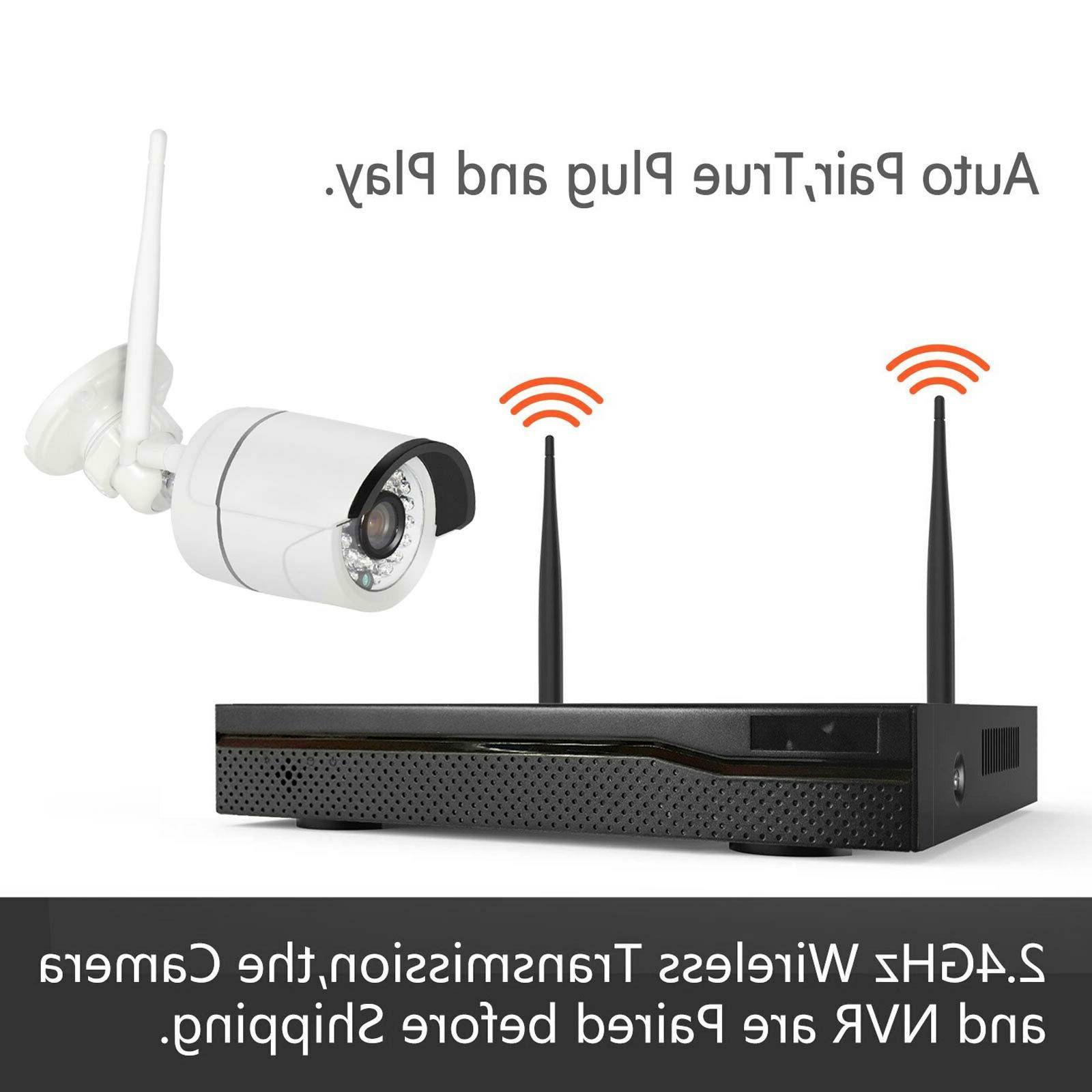 Wireless 4CH Outdoor indoor WIFI Kit US
