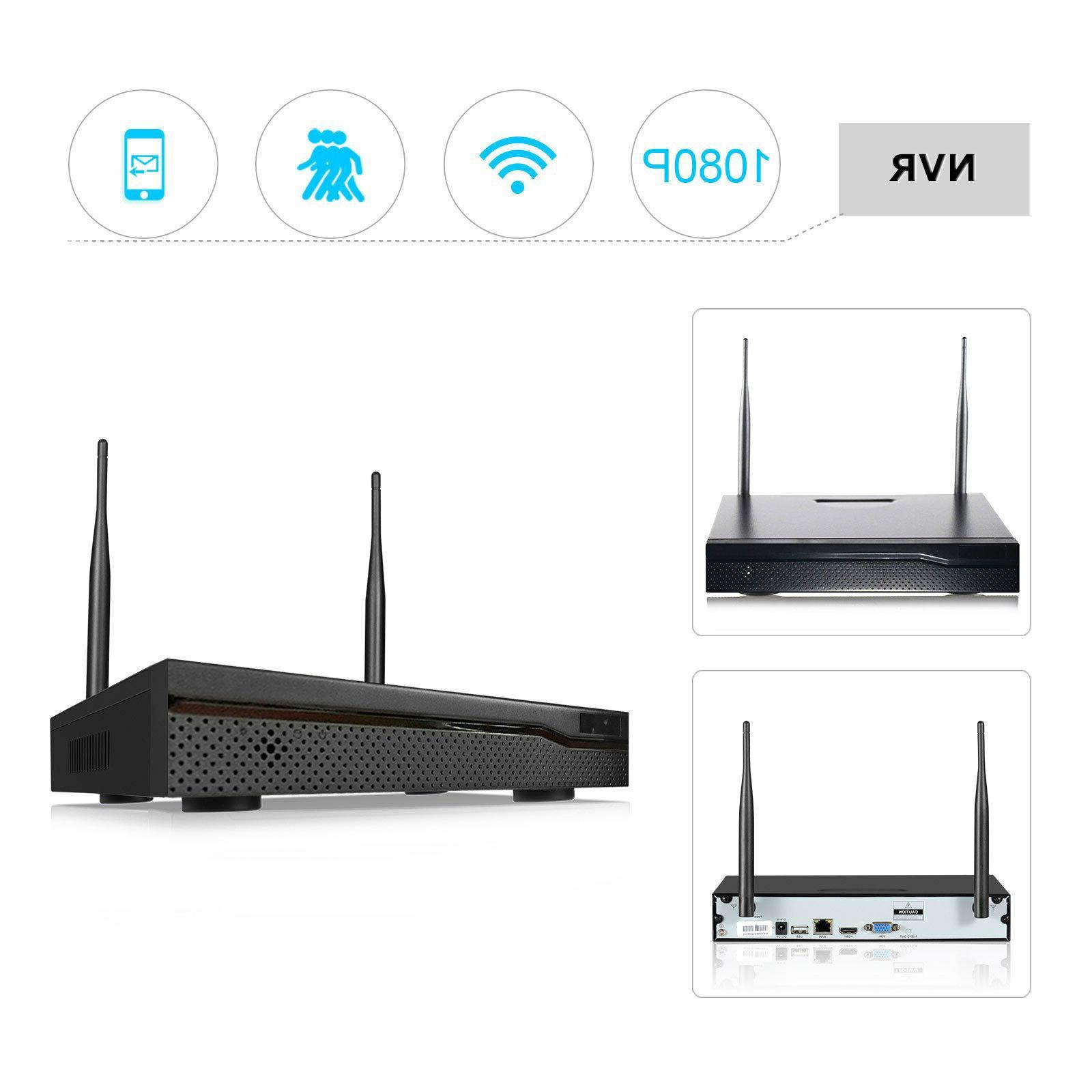 Wireless 1080P NVR Outdoor indoor HD Camera CCTV Security Kit