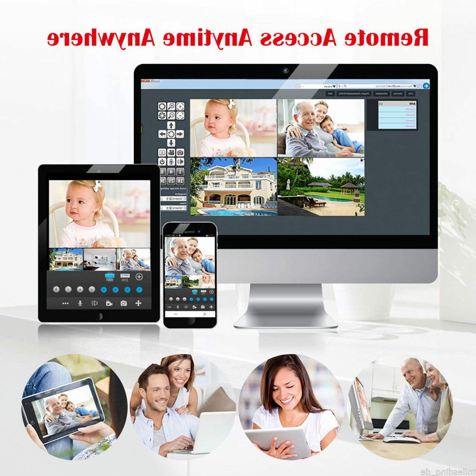 Wireless 1080P Outdoor WIFI Camera CCTV Kit US