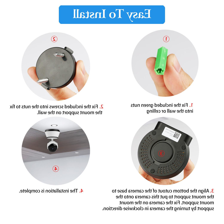 ❤️Wireless Pan/Tilt Security Camera CCTV