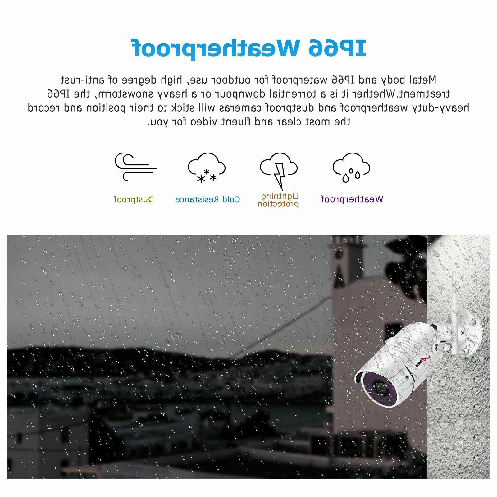 ANRAN Wireless Camera 8CH NVR 2.0MP HD HDD Outdoor