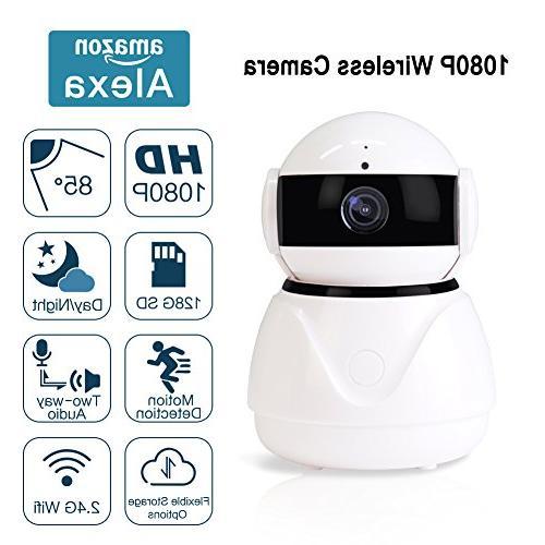 Wireless Camera,1080p WiFi Surveillance Camera Echo