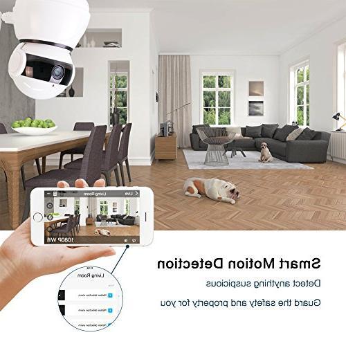 Wireless Security IP Camera,1080p WiFi Video Camera with Echo