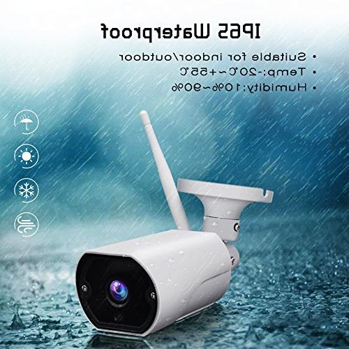Wireless Security Outdoor WiFi IP Video System Waterproof Two-Way Audio, Vision,Motion Detection, Cloud/Micro