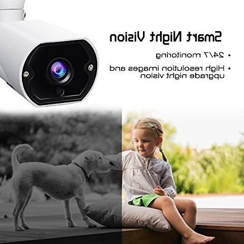 Wireless Outdoor WiFi Video Surveillance Bullet System with Audio, Night Vision,Motion Cloud/Micro