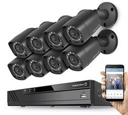 Amcrest HD 1080P-Lite 8CH Video Security Camera System w/ Ei