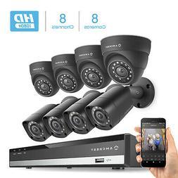 Amcrest HD 1080-Lite 8CH Video Security Camera System w/ 8 7