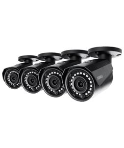 Lorex 4MP HD IP LNB4421W-4PK 4-Pack Bullet Camera with Color