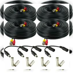 Amcrest 4-Pack 150 Feet Pre-Made All-in-One Siamese BNC Vide