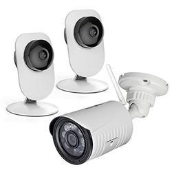 3 Pack Mini Home Wireless IP Camera, 2 pcs 720P Indoor WiFi